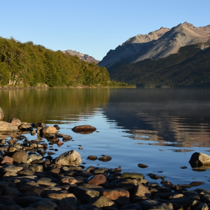 Lago Guacho at sunrise